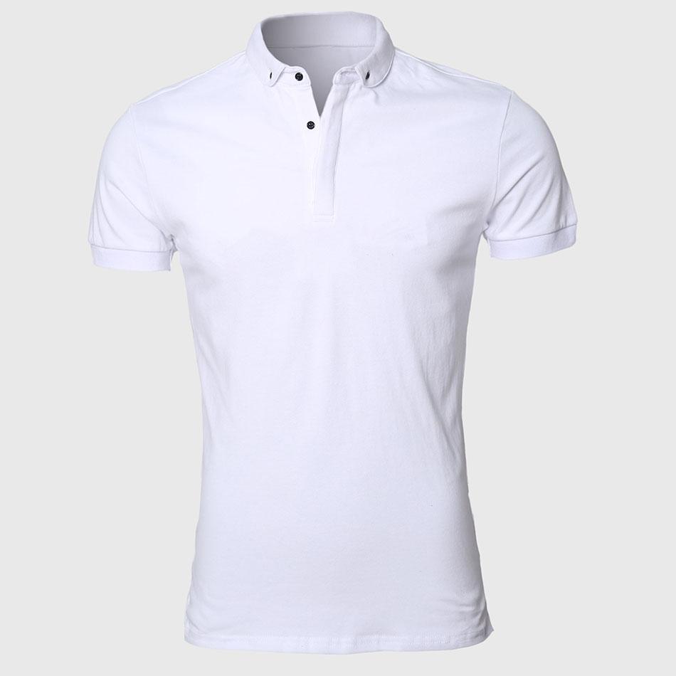 Apl025 White Men Polo Shirt Pattern Slim Fit Turn Down Types Collars Work Sport Clothing - Buy Turn Down Collar Polo Shirt,Slit Fit Turn Down Collar ...