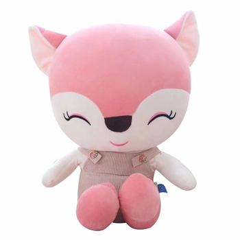25cm hot selling fashion custom design girls gift promotional soft toys plush fox