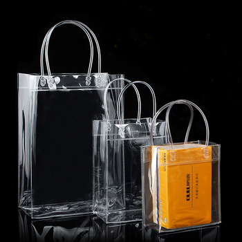 Promotional Clear Pvc Plastic Shopping Bag For Cosmetics