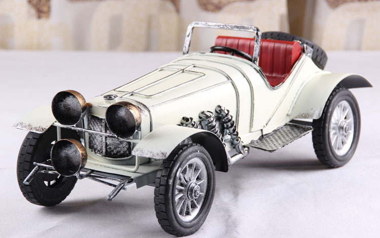 Retro vintage antique tin metal crafts classic car convertible retro home accessories Decoration
