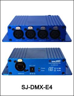 Showjockey  artnet dmx controller 4 port converter input 4*512 channel 2048 channels