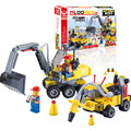 Free shipping 196pcs DIY City Engineering Team Assemble Toy Excavator Small Particles Building Blocks Early Educational