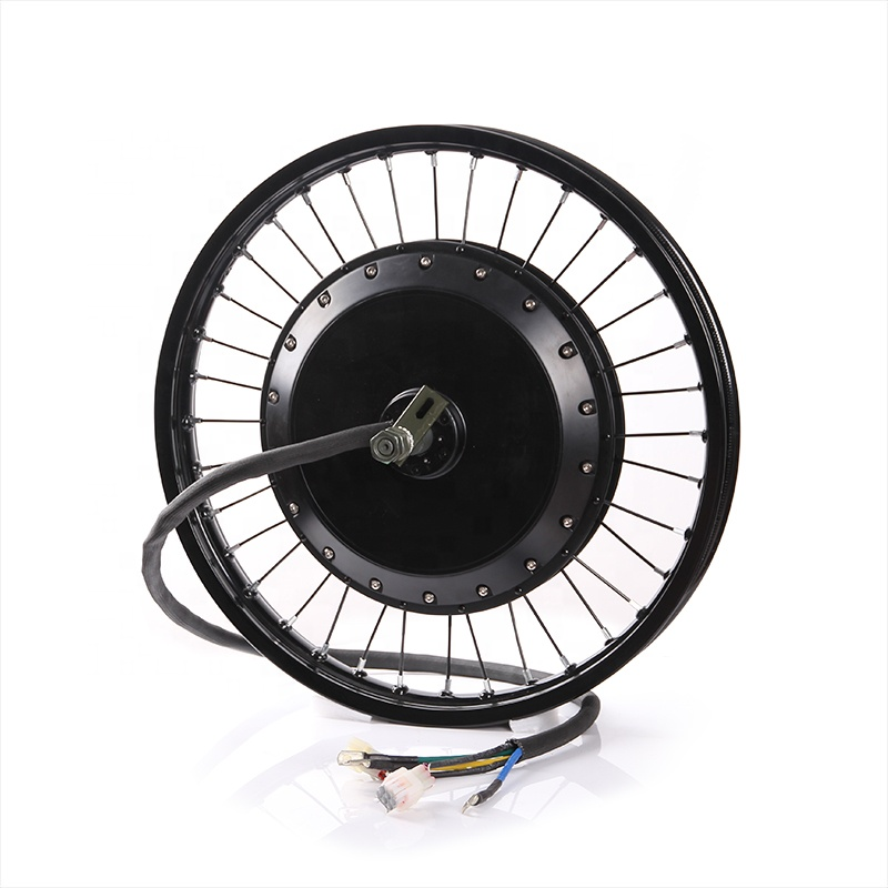 3.5T super speed QS 273 8000w electric bike motor wheel with 3.0 tire and tube