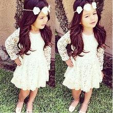 NEW Kids Girls font b Dress b font Toddler Baby Princess Short Sleeve Lace font b