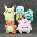 1Pcs 12 15cm Anime Cartoon Pikachu Charmander Squirtle Bulbasaur Clefairy Ditto Metamon Plush Toys Soft Stuffed