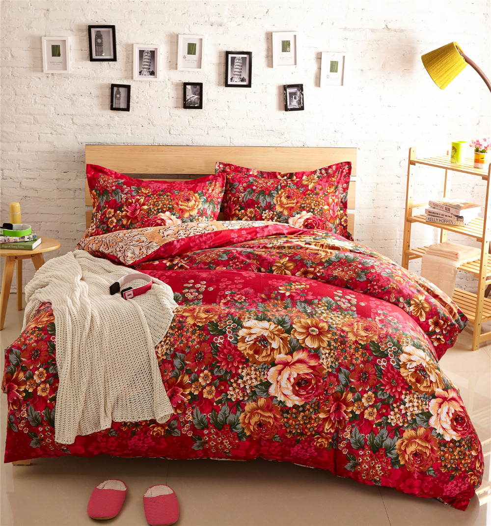 floral bed sets 28 images floral housse de couette roupa de cama comforter sets red 5 piece. Black Bedroom Furniture Sets. Home Design Ideas