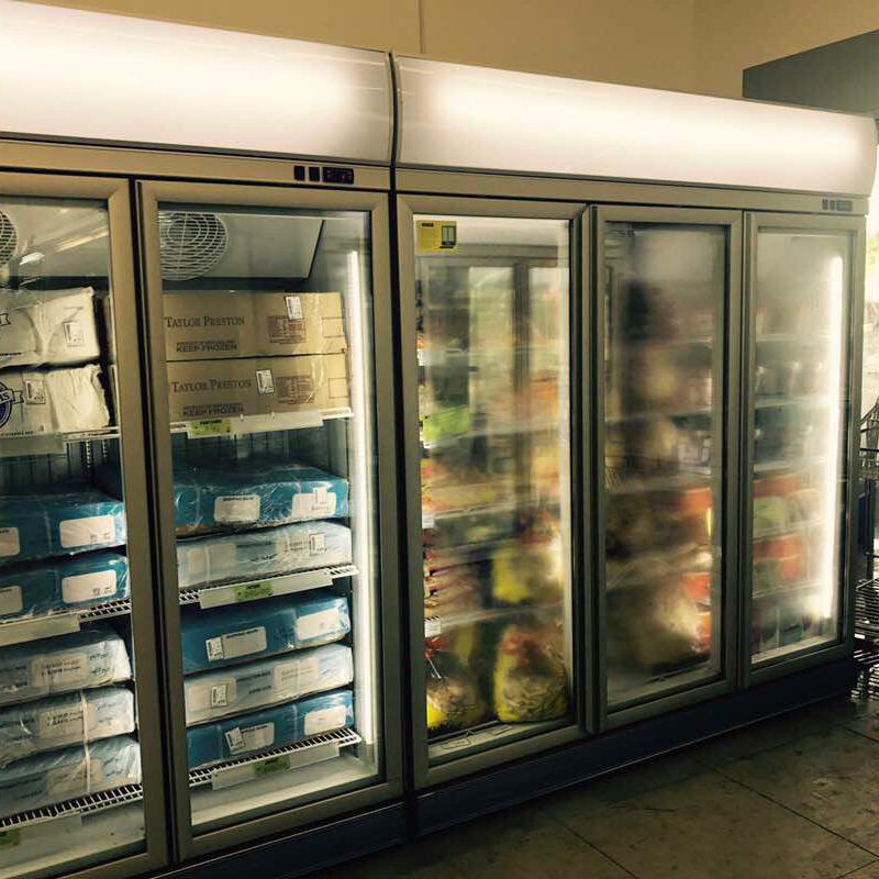Glass door coke pepsi upright fridge french door refrigerator for drinks