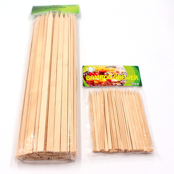 Natural Color Disposable Long Portable Bbq Kitchen Flat Wooden Turkish Kebab Skewers