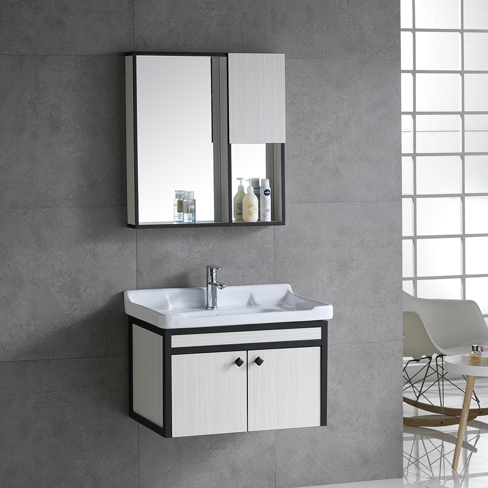 New Material Aluminum And Wood Made Wall Hanging Basin Cabinet With Mirror Home Goods Corner Vanity Hotel Bathroom Furniture View Wood Basin Cabinet Shouya Product Details From Chaozhou Chaoan District Fengtang Town