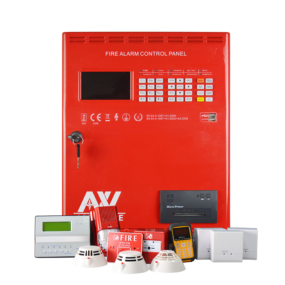 Asenware Addressable Fire Alarm System With Smoke Detector
