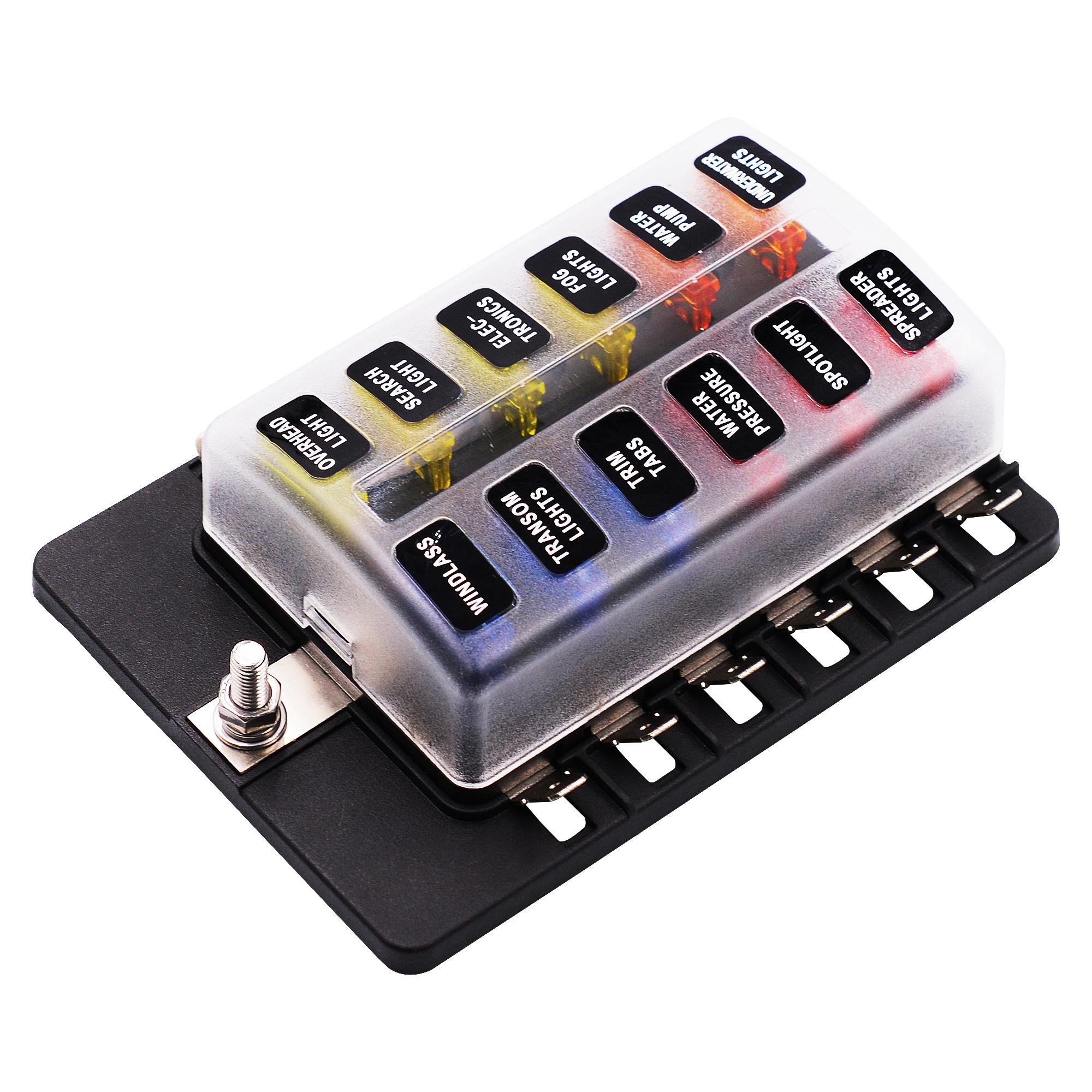 low voltage dc dustproof automotive filter car fuse box block holder with  indicator light - buy 24v fuse box,12v fuse box,fuse box product on  alibaba.com  alibaba.com