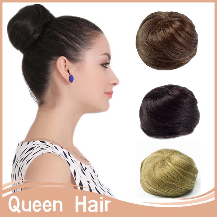 1 шт. Chignon укладки волос синтетический булочка волосы Updos расширение пончик ролика волосы шиньоны бун волос Chignon для длинных HairQ3