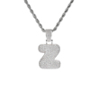 Letter Z, Gold, SIlver, Rose Gold, 3 colors to choose