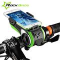 RockBros Bicycle Accessories Bike Light Bicycle Lamp Waterproof Moto Bike Phone Holder Double Led Lights Usb