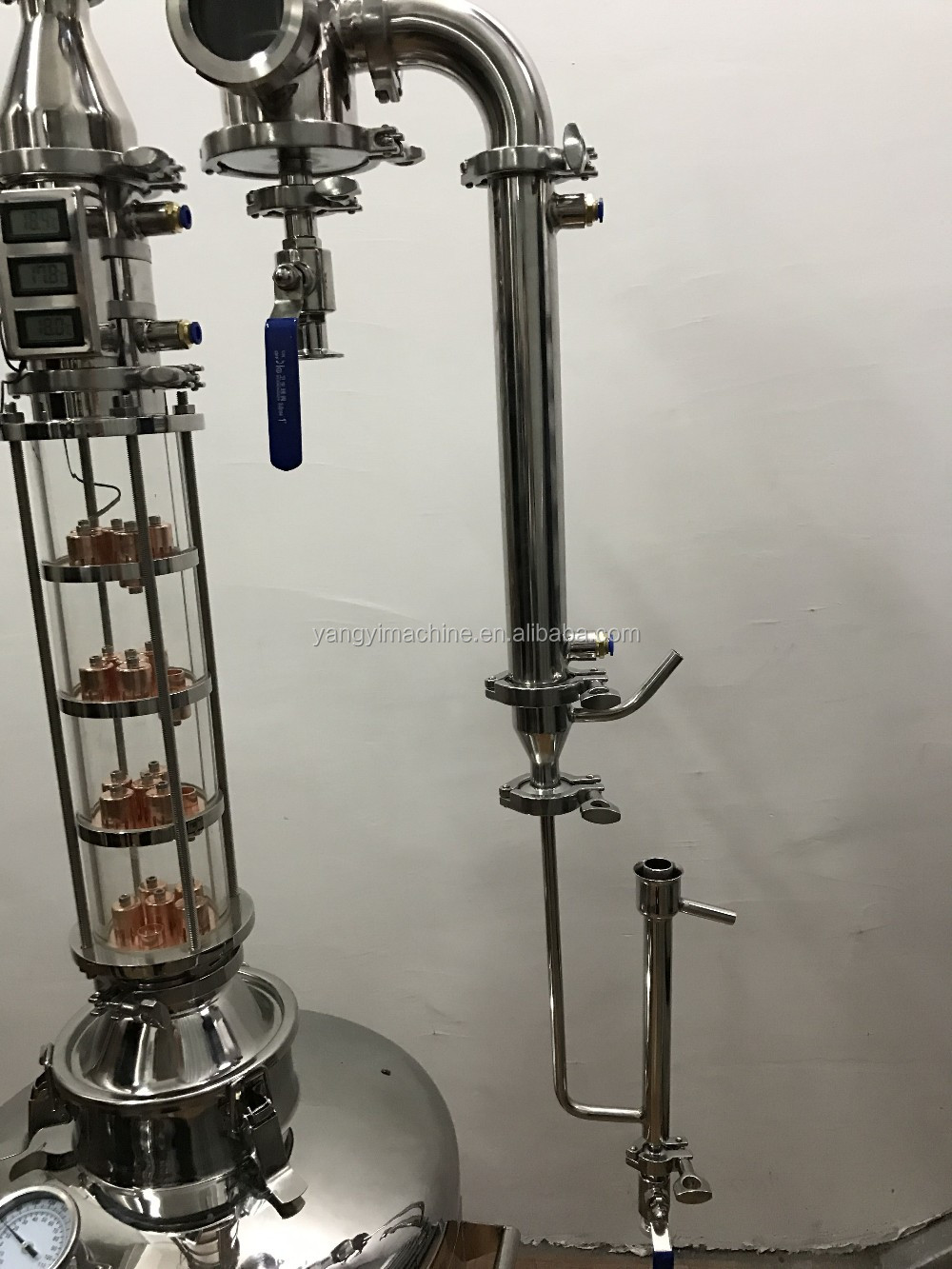 New Type Glass Distillation Column Pot Still Alcohol