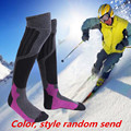 Style Color Random Winter Warm Knee Sport Thermal Ski Socks For Men Women Wool Ski