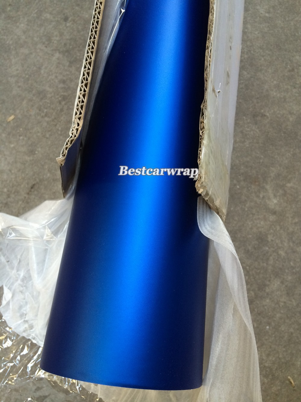Buy 65ft X 5ft Metallic Satin Matte Chrome Blue Vinyl Roll