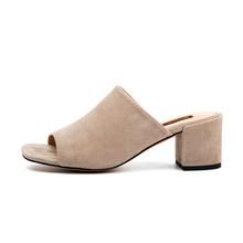 Туфли без пяток на высоких каблуках Donna-in, сандалии из натуральной кожи с открытым носком, женские летние шлепанцы, обувь 2020, туфли женские шл...(Китай)