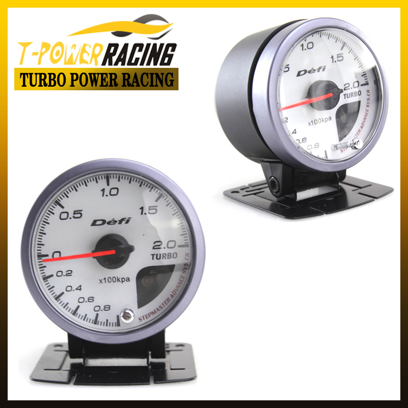 60mm defi white face boost guage auto meter auto gauge tachometer racing meter turbo gauge. Black Bedroom Furniture Sets. Home Design Ideas