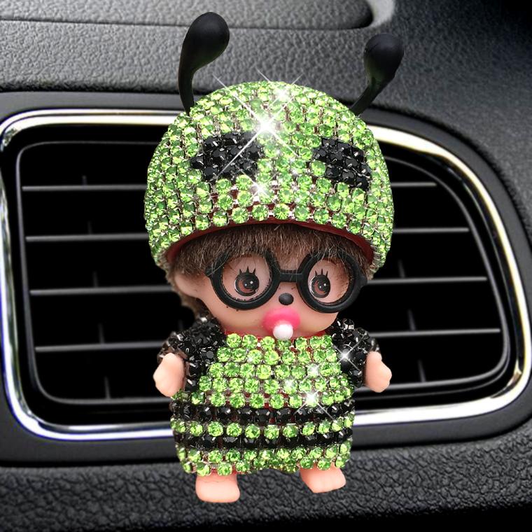 Car Decoration Perfumes Clip Shape Diamond perfume car air freshener essential car oil diffuser Little bee