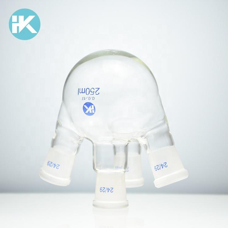 laboratory equipment glassware chemistry four necks flask