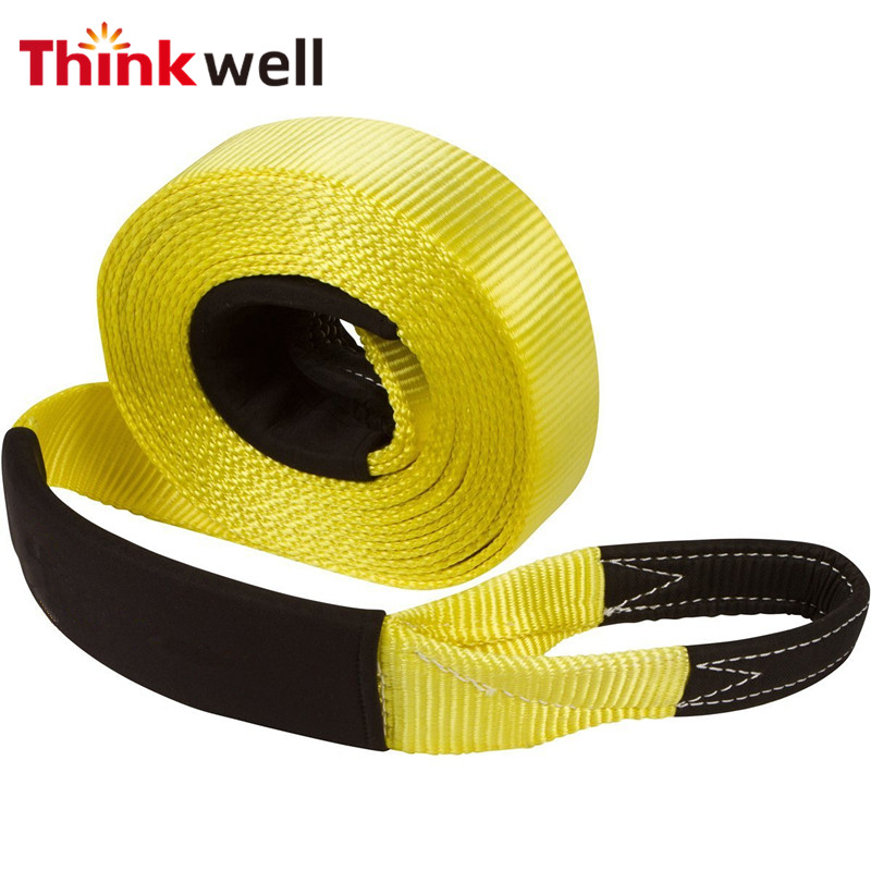 Car Nylon Towing Rope Towing Pull Rope Heavy Duty Tow Strap Rope