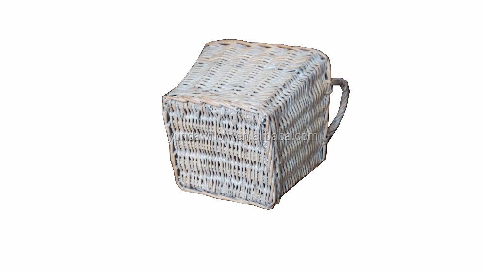 Маленькая плетеная корзина, Подарочная идея для детей, плетеная декоративная корзина для детского стола, плетеная корзина на день рождения, пасхальное украшение
