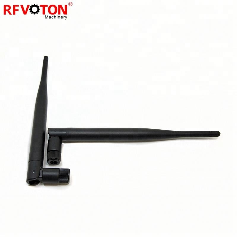 5dbi 2,4G широкодиапазонная резиновая Wifi Omni роутер антенна SMA штекер черная гибкая антенна