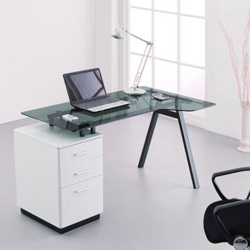 Modern Computer Desk 3 Drawer Glass Desktop Office Table Buy Computer Table Glass Office Table Design Compact Glass Computer Desk Table Product On Alibaba Com