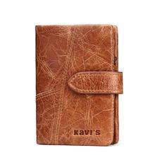 1fa70a608 Marca de lujo pequeña cartera femenina cuero genuino cartera mujeres  portomonee rfid mini señora para titular