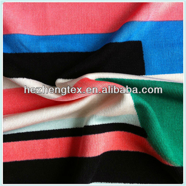 100% silk fabric jersey interlock printing fabric silk knitted fabric for colorful design