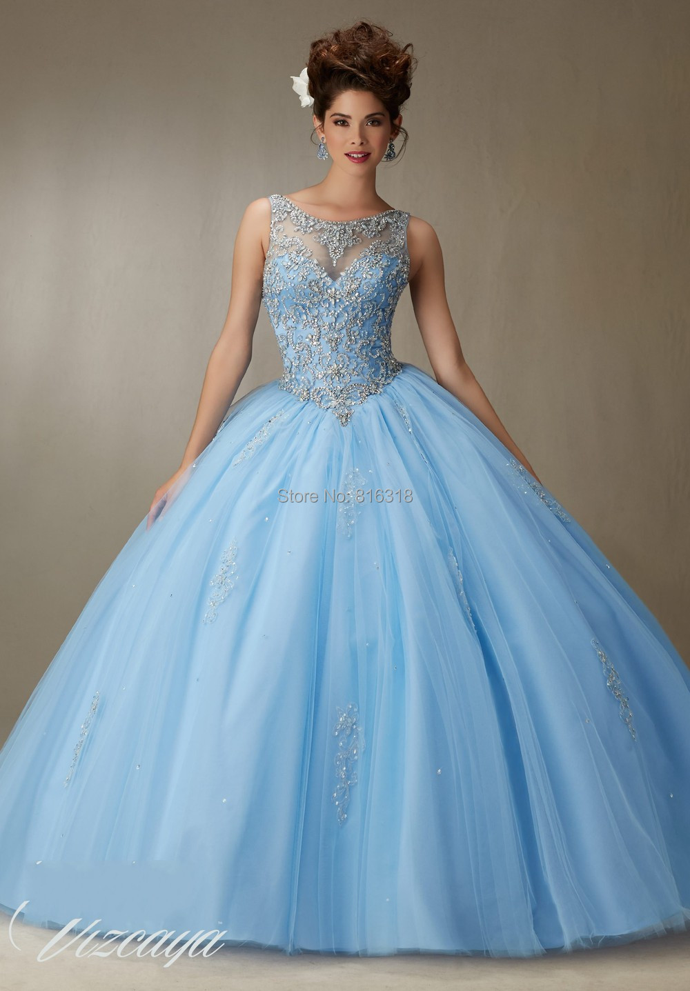 30c18e5b679 AliExpress 2016 Cheap Quinceanera Gowns Debutante Sweet 16 Princess Dresses  Blue Red Coral Pink White Online Ball