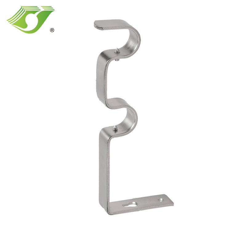 gunmetal curtain rod