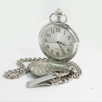 Antique pocket watches chain with Japan movt pocket watch