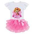 Summer 2 7years Girls Dress paw Doggie Lace Princess Dress Doggy Cartoon Party Role play Costume