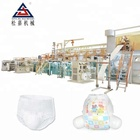 Baby Diaper Machine Production Line Baby Diaper Machine Price SJ-LLK-500 Fully Automatic Full Servo Tri- Pieces Type Pull Up Baby Diaper Production Line