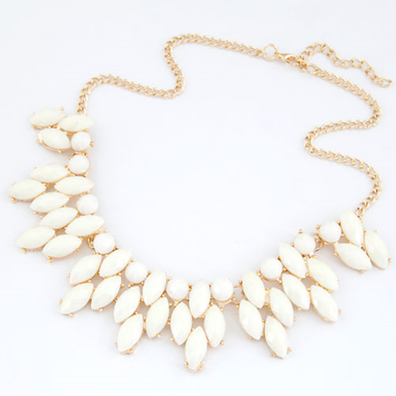 203e999aa324 Fine Jewelry Maxi Collares Statement Necklaces   Pendants Imitated Gemstone  Collier Femme for Women Accessories 2016