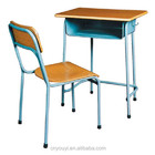 Furniture And School Desk And Chair Hot Wooden School Furniture Study Single Classroom Desk And Chair By Size 60*45*80cm