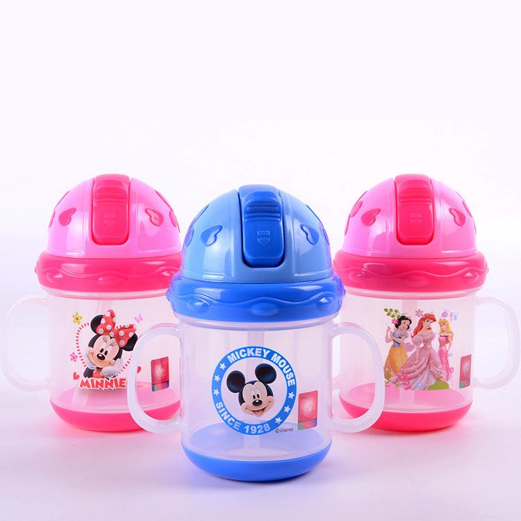 Ребенка мультфильма дети соломы чашки бидончик сиппи чашки с ручками # 289ssy