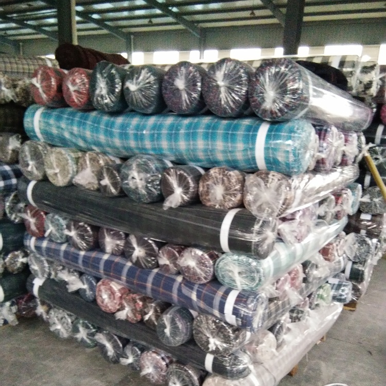 China cheap various colors dyed flannel fabric stock lots mixed fabric