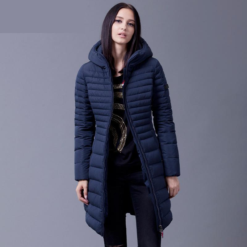 2016 New Winter Collection Brand Woman Black and Navy Long
