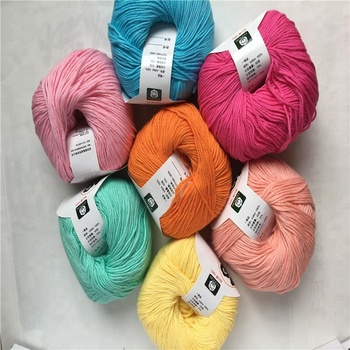 Wholesale Soft 100% Baby Cotton Yarn for Knitting Baby Sweater