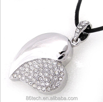Hotsales 8 GB Jewelry USB Flash Drive Necklace for lady gift