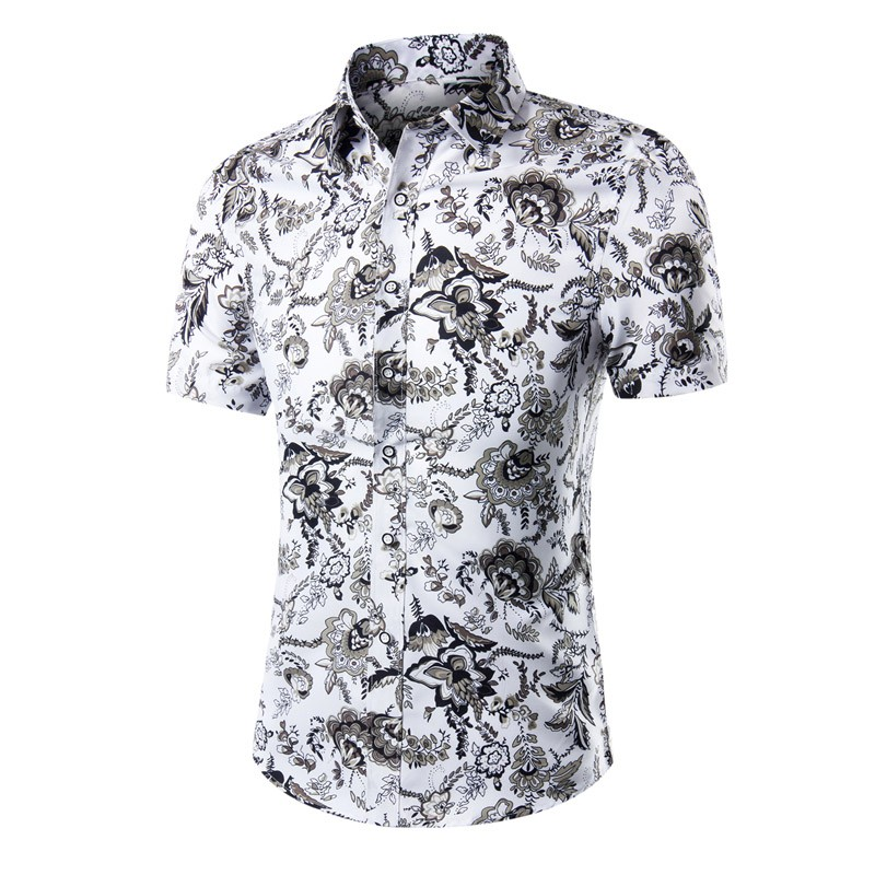 772c35aa 2019 Wholesale Summer Shirt Men Short Sleeve Male Beach Hawaiian ...