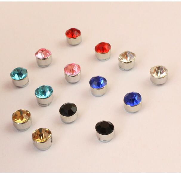 Magnetic Earrings 4mm No Hole Round Crystal Magnet For Women Men Punk C82