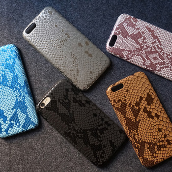 wp1026 Luxury Snake Leather Phone Case for Iphone 6 plus case