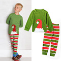 2016 New Arrival Children s Christmas Pajamas Set Boys Striped Nightwear Warm Winter Nightgown Kids Child