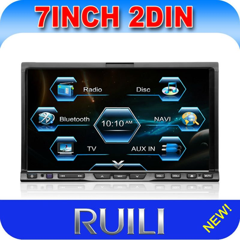 """Discount!7"""" In Dash Double Din Touch Screen Car Stereo"""
