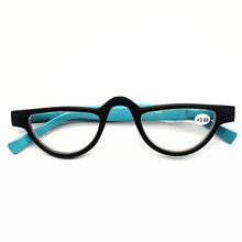 Калейдоскоп, очки, модные маленькие очки для чтения «кошачий глаз», женские очки для дальнозоркости, ретро очки, красные, синие, оранжевые(Китай)
