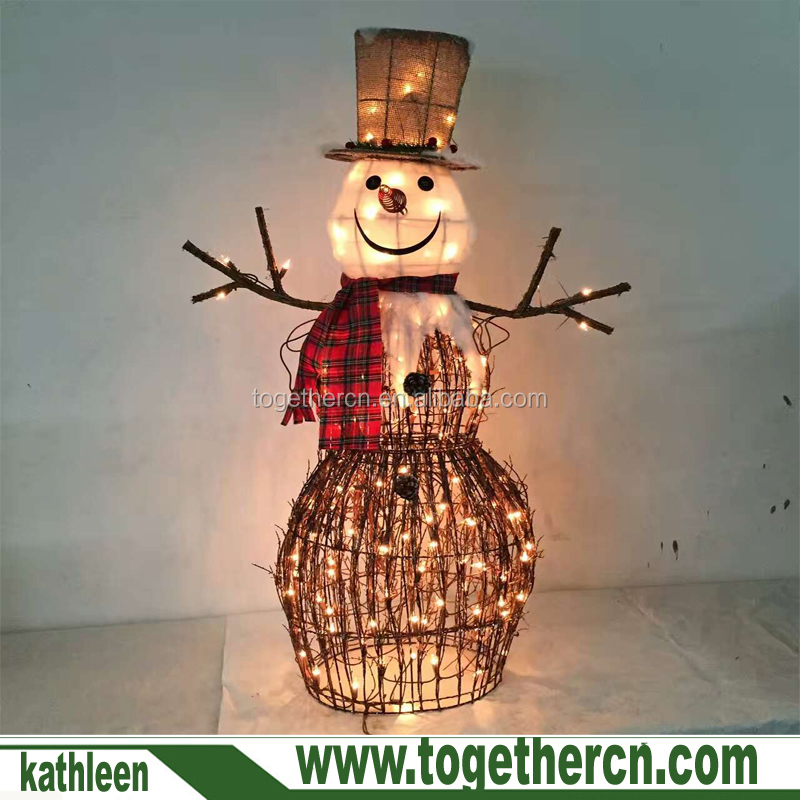Christmas Yard Art Decoration Lighted Burlap And Berry Rattan Standing Grid Collar Wicker Snowman Buy Christmas Decoration Plush Snowman Light Up Christmas Snowman Christmas Light Flashing Snowman Product On Alibaba Com